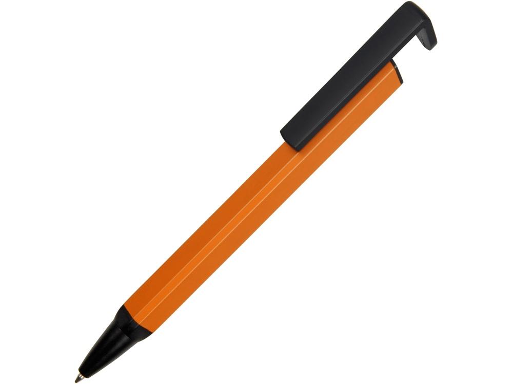 Ручка-подставка металлическая, Кипер Q, оранжевый/черный