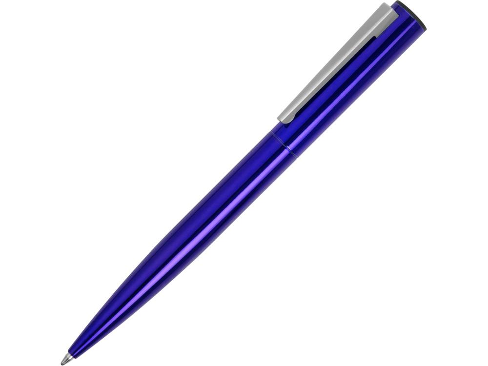 Ручка металлическая шариковая Icicle под полимерную наклейку, темно-синий