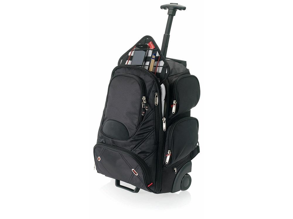 Рюкзак Proton на колесиках с отделением для ноутбука, черный