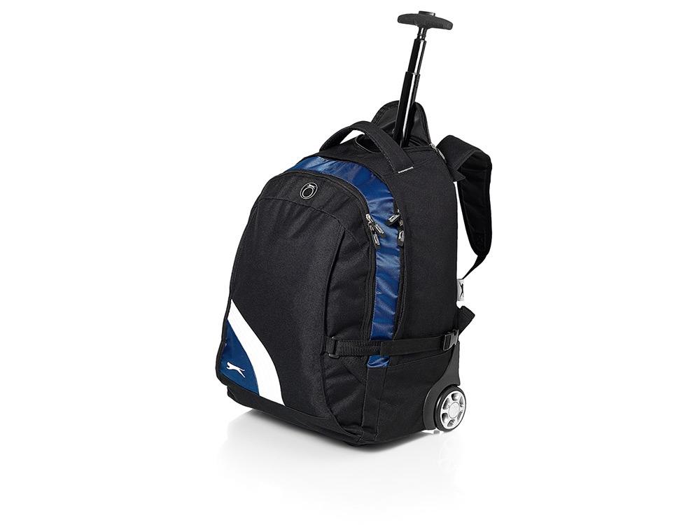 Рюкзак Wembley на колесиках с отделением для ноутбука, черный/синий/белый