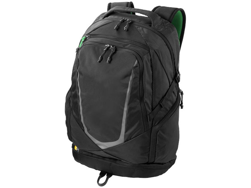 Рюкзак Griffith Park для ноутбука 15, черный/зеленый/серый