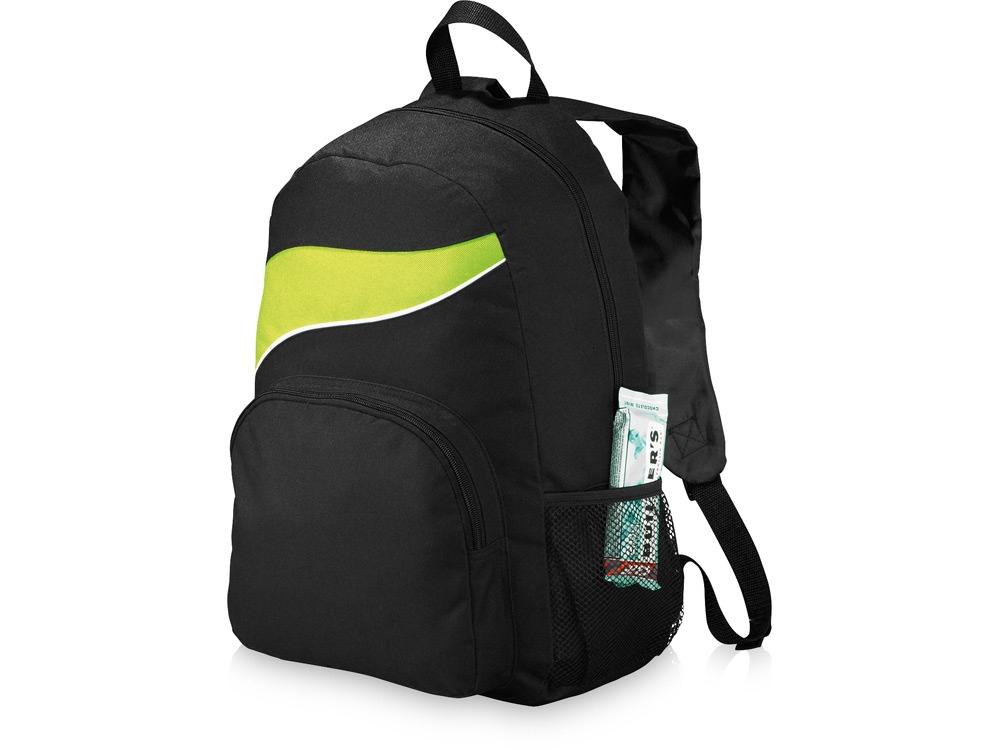 Рюкзак Tornado, черный/лайм
