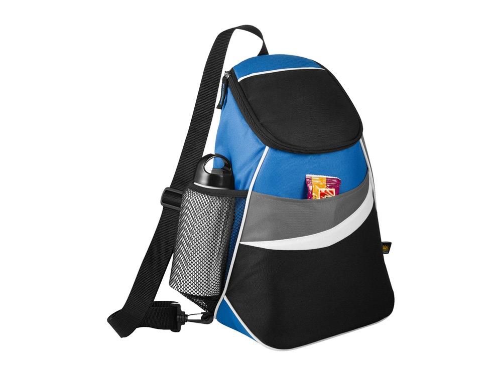 Сумка-холодильник через плечо на 12 банок, синий/черный