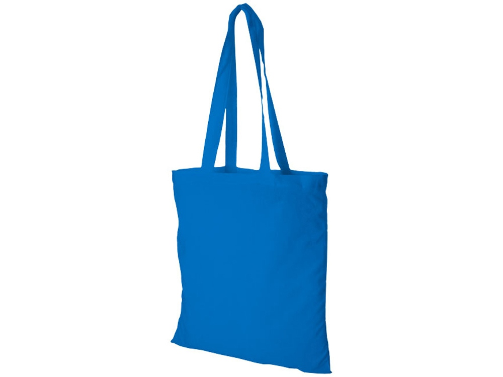 Хлопковая сумка Madras, светло-синий