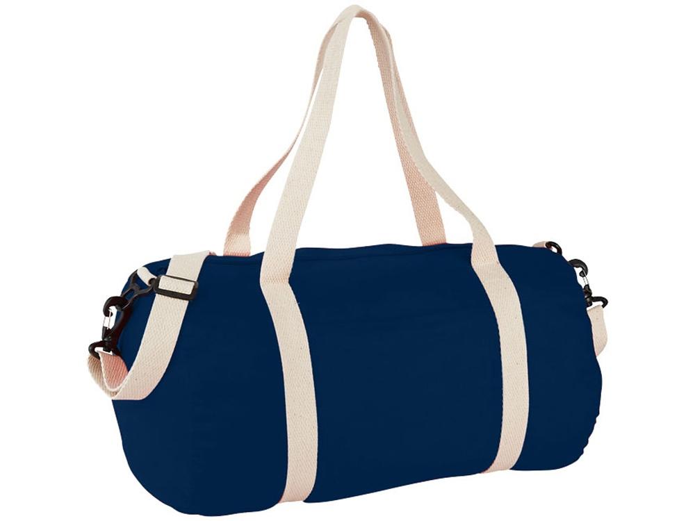 Хлопковая сумка Barrel Duffel, темно-синий/бежевый