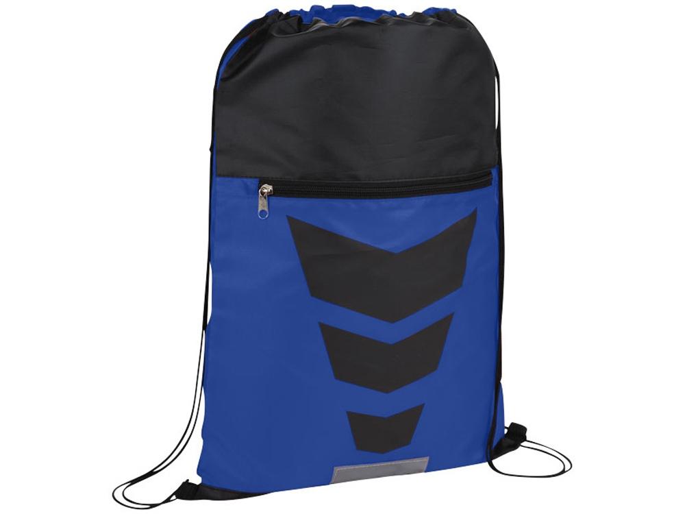 Рюкзак на шнурке Courtside, ярко-синий/черный