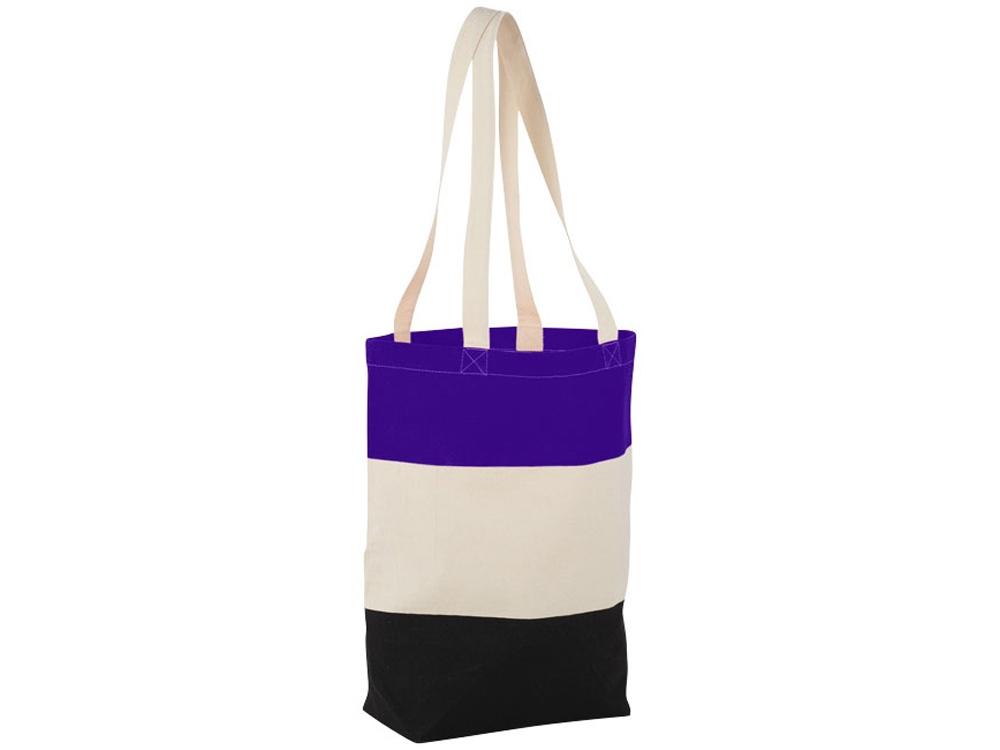 Хлопковая сумка Colour Block, пурпурный/бежевый/черный