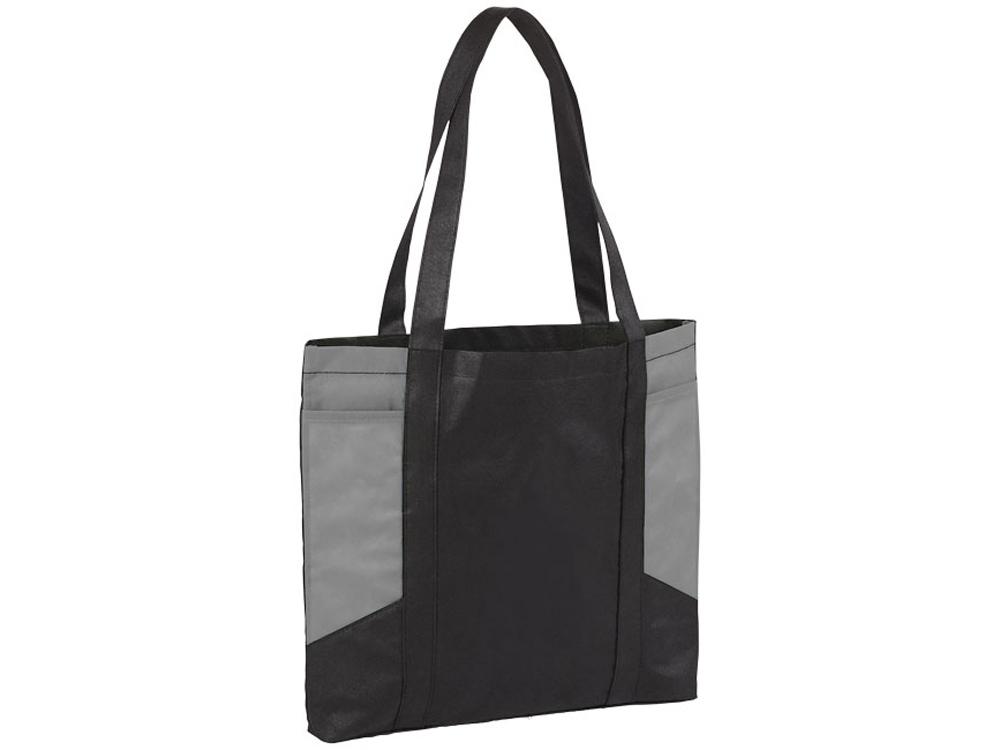 Сумка с цветными панелями, черный/серый
