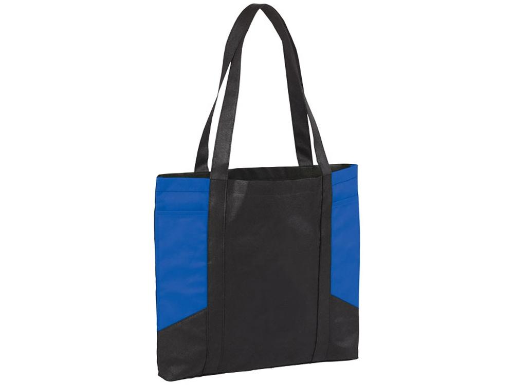 Сумка с цветными панелями, черный/ярко-синий