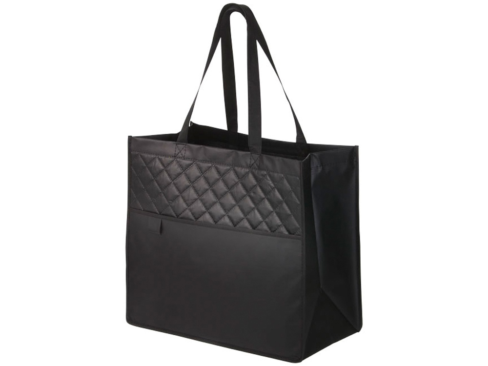 Стеганная ламинированная сумка Cross, черный