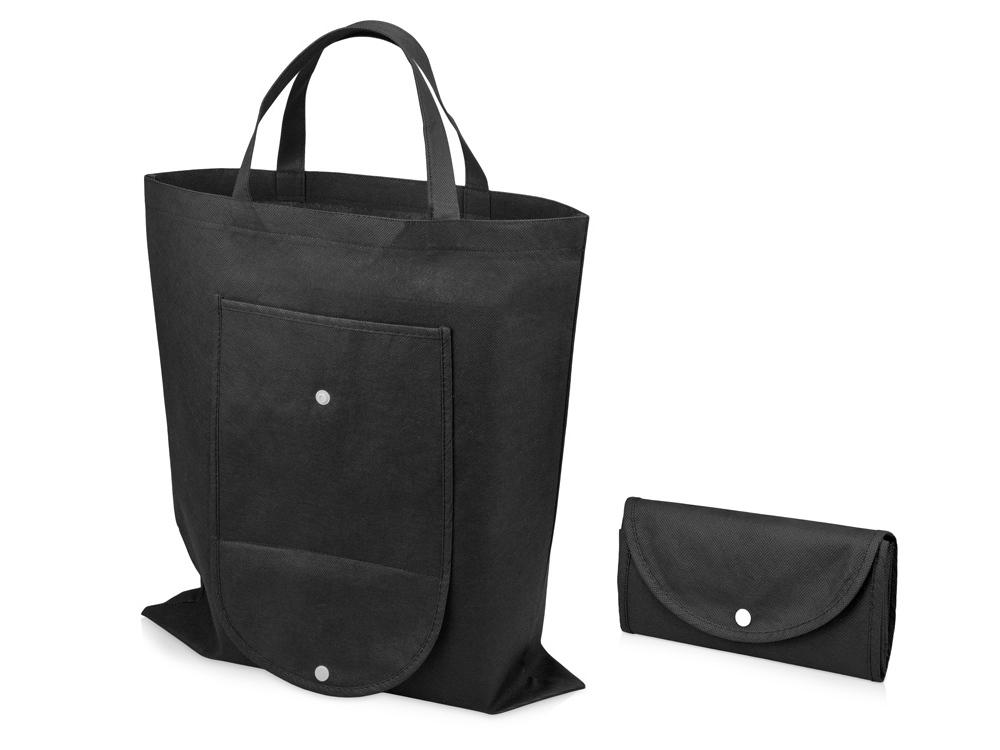 Складная сумка Maple из нетканого материала, черный