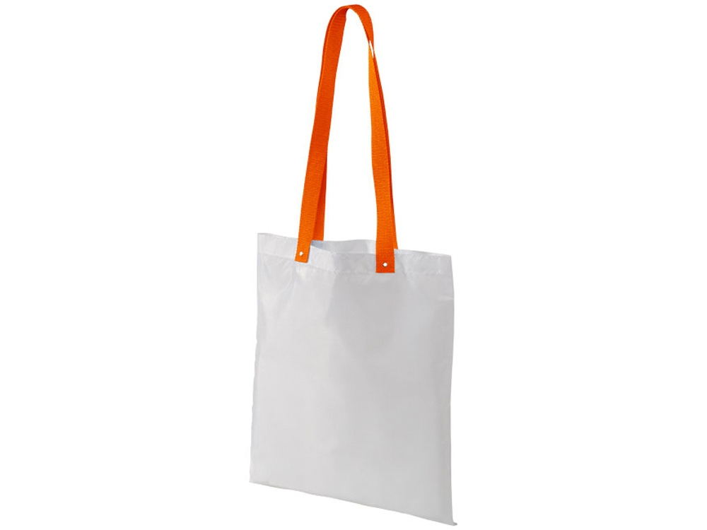 Сумка из полиэстера Uto, белый/оранжевый