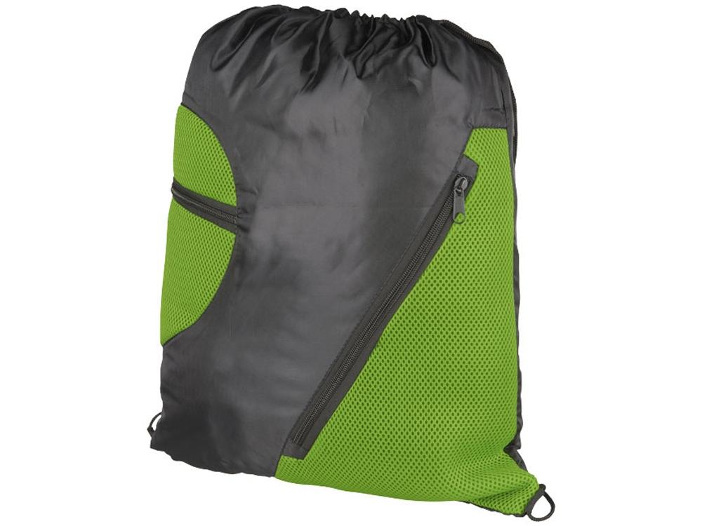 Спортивный рюкзак из сетки на молнии, лайм