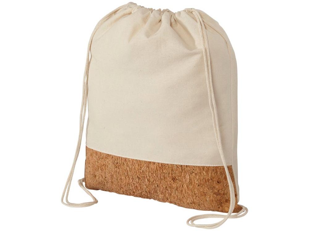 Рюкзак из хлопка и пробки, натуральный