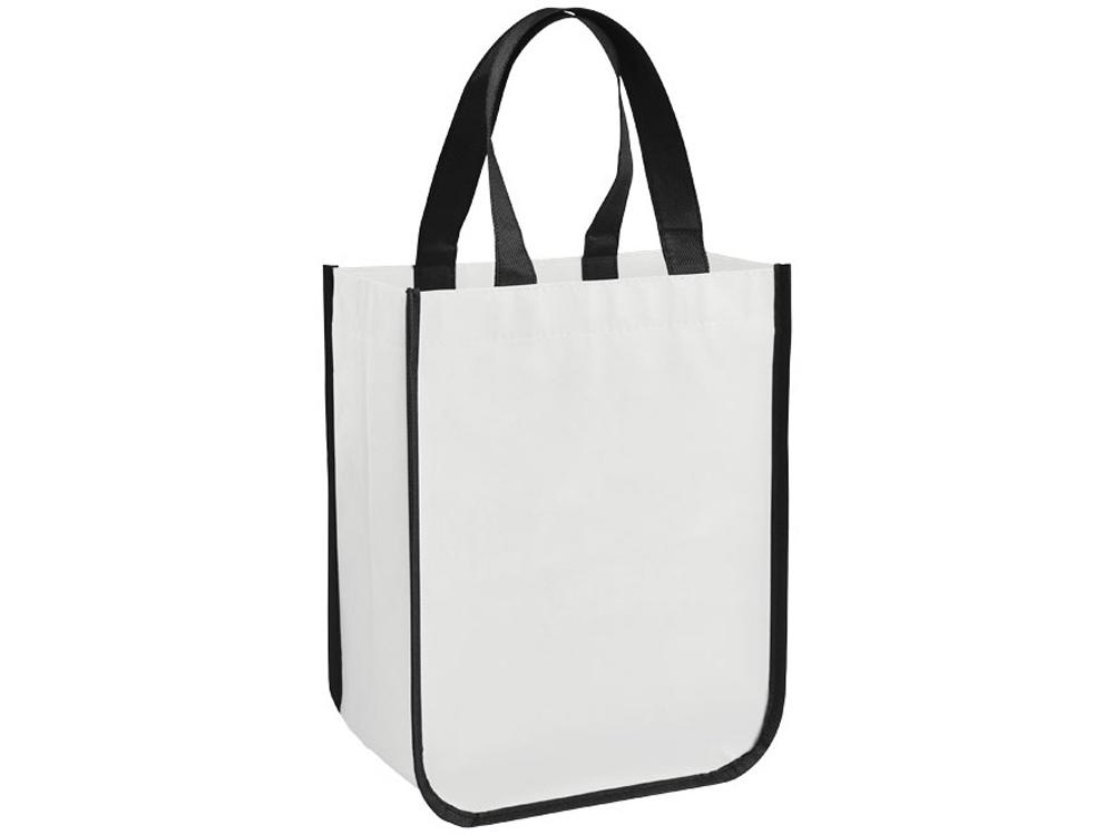 Маленькая ламинированная сумка для покупок, белый