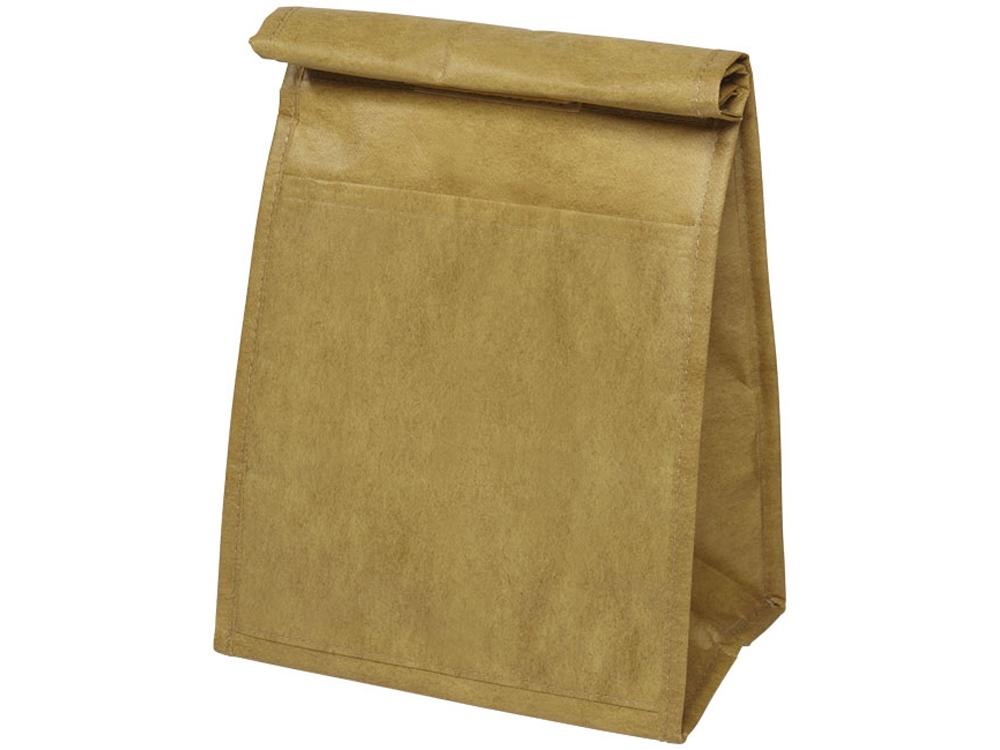 Сумка холодильник в виде бумажной, коричневый