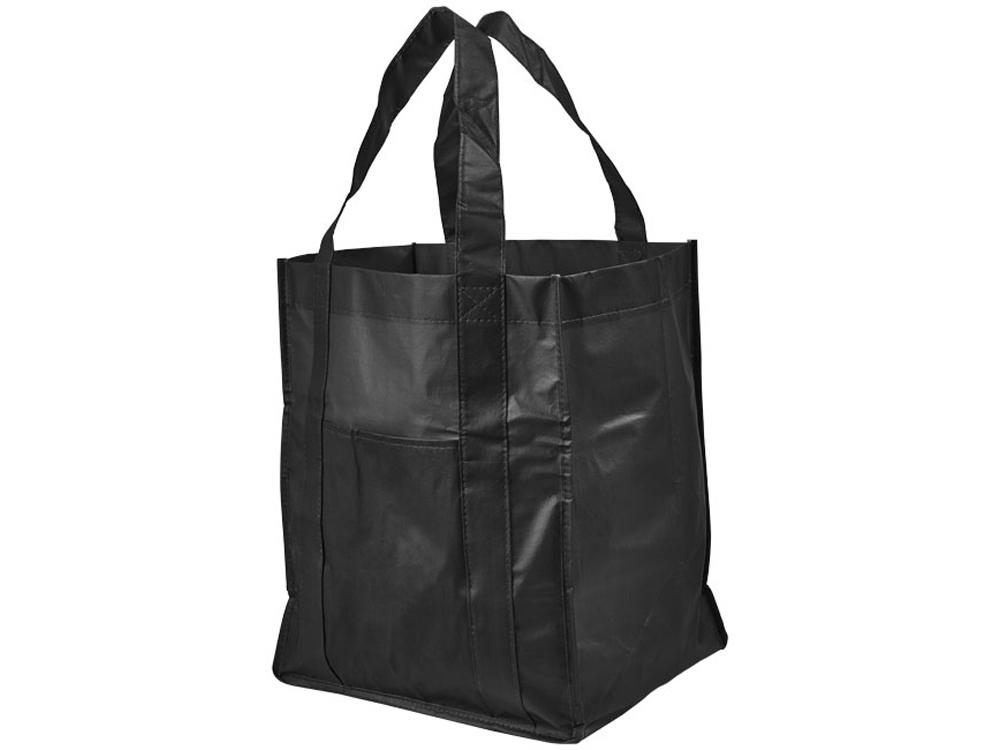 Ламинированная сумка для покупок, черный