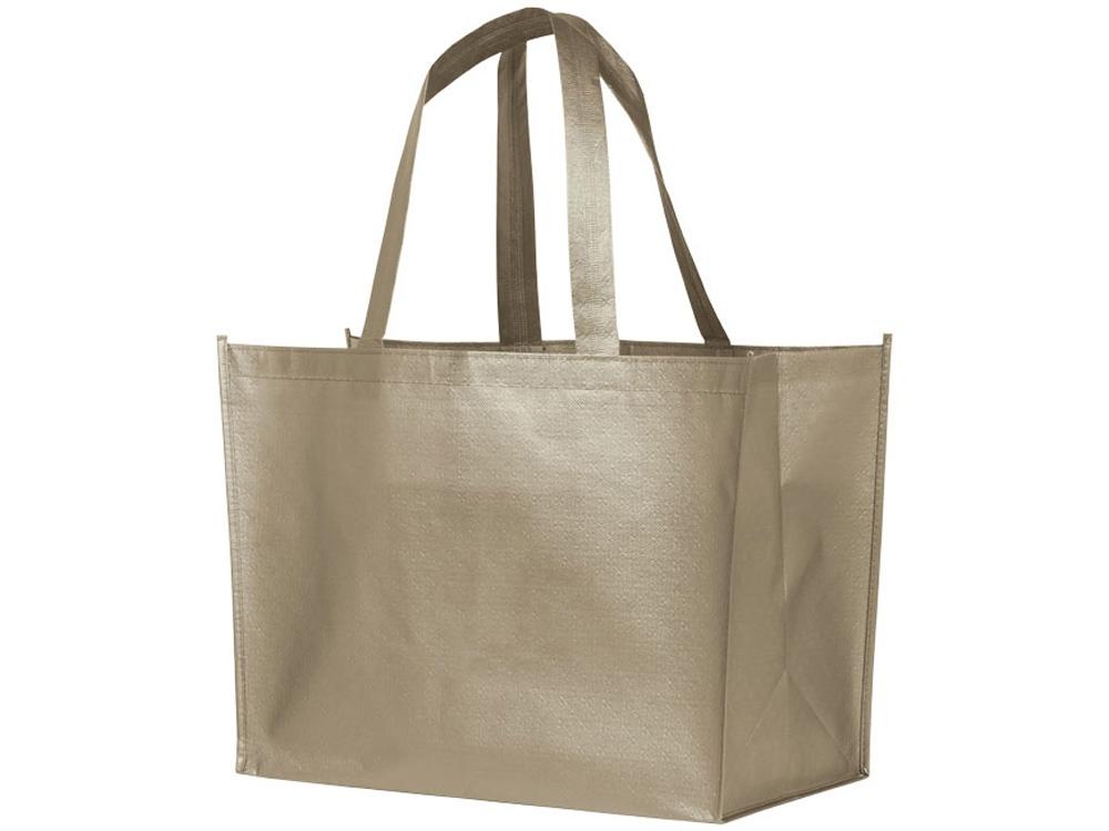 Ламинированная сумка-шоппер Alloy, nickel (желтовато-серый)