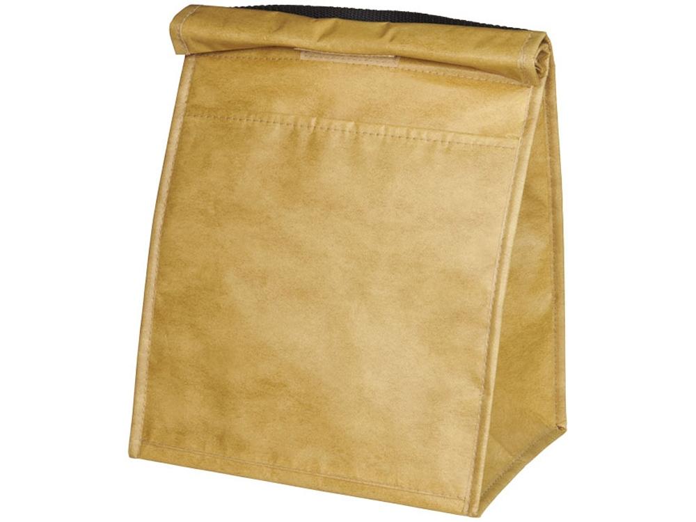 Бумажная сумка-холодильник для ланчей на 12 банок, коричневый