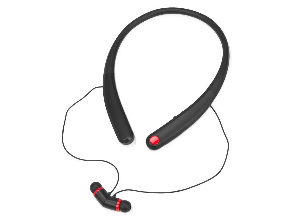 Беспроводные наушники с микрофоном «Soundway», черный/красный