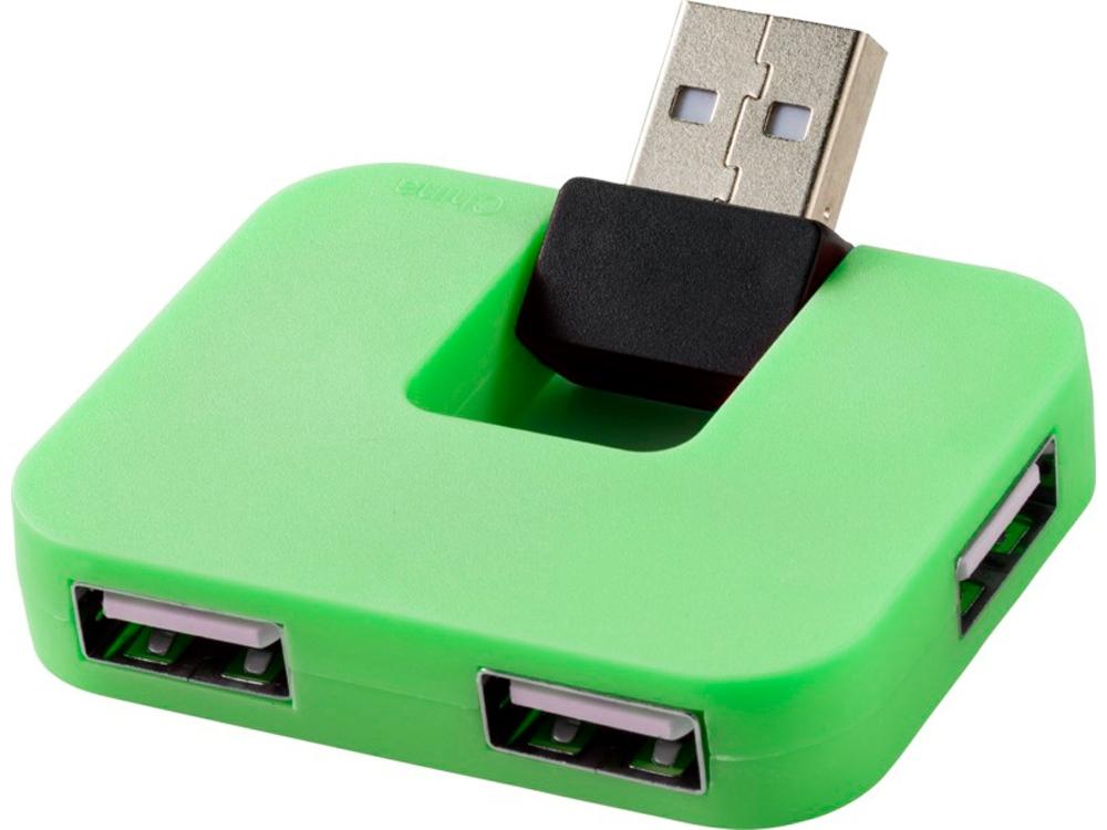 USB Hub Gaia на 4 порта, зеленый