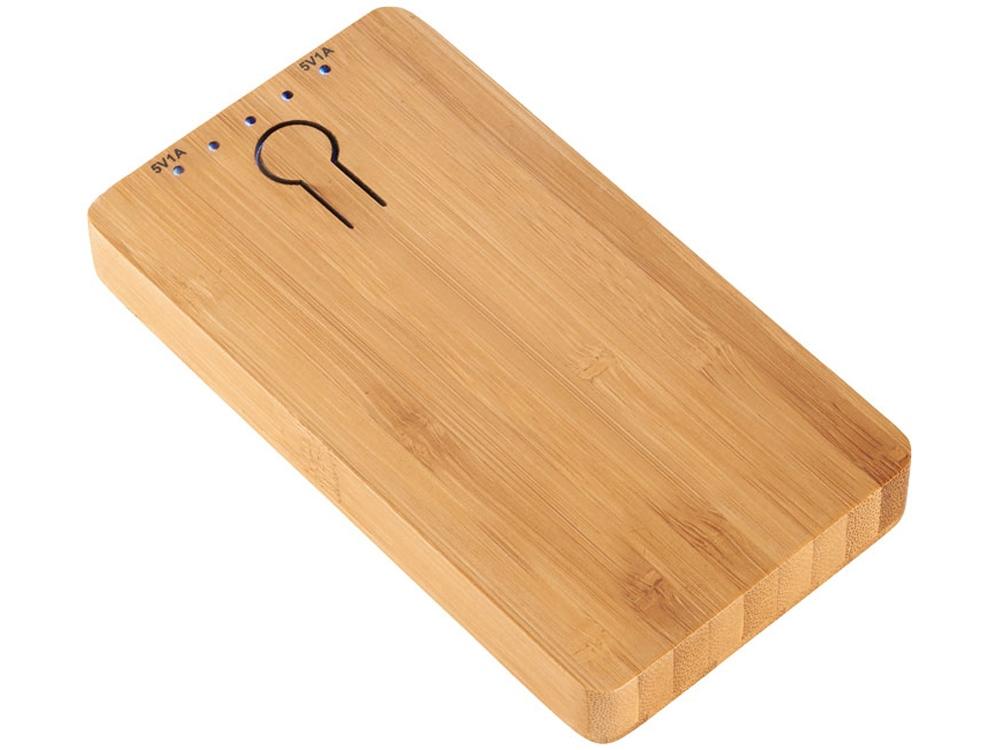 Повербанк PB-5000 Bamboo, коричневый