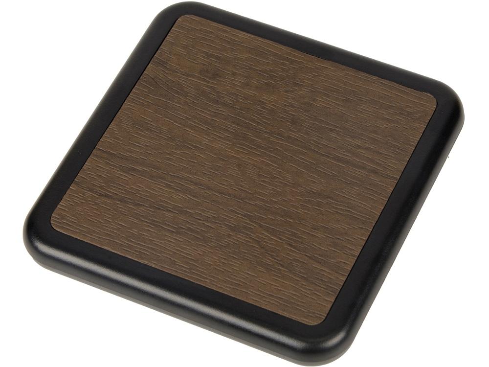 Устройство для беспроводной зарядки «Solstice», коричневый/черный
