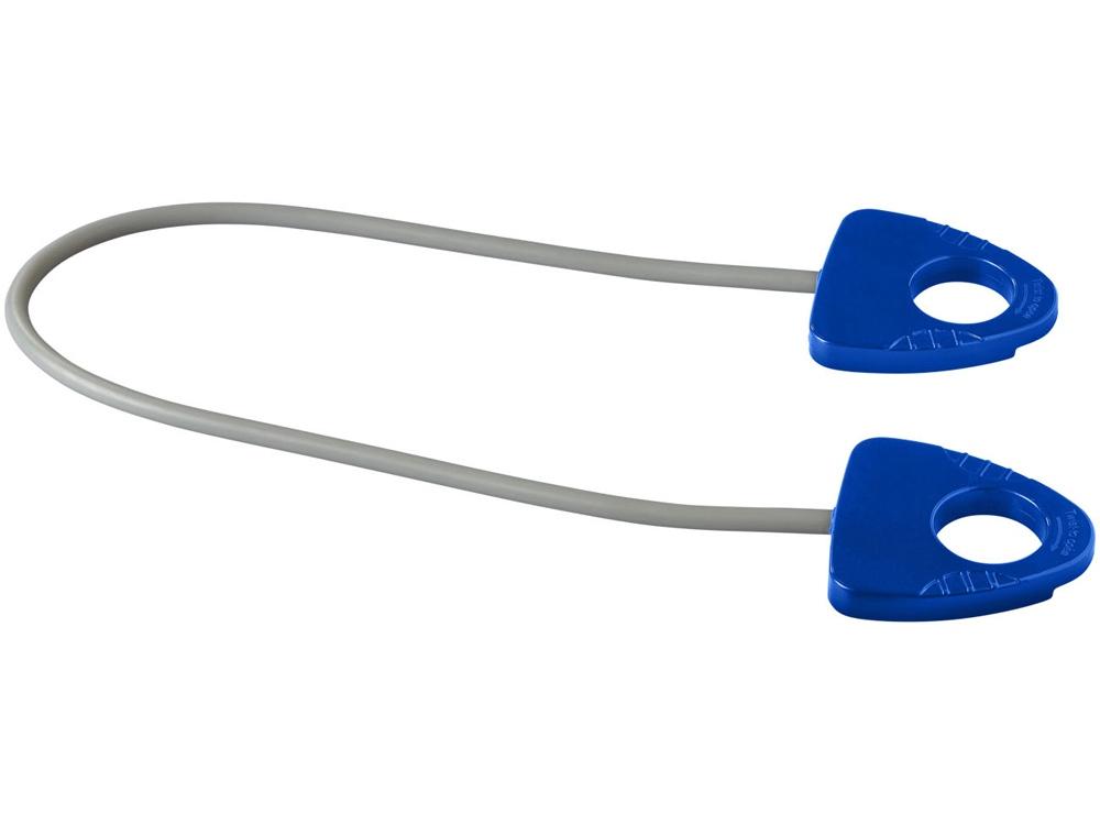 Резинка для занятий йогой Dolphin с ручкой, ярко-синий