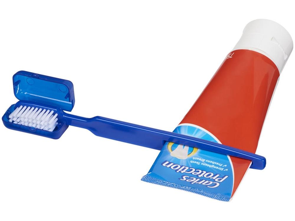 Зубная щетка Dana с выжимателем, синий
