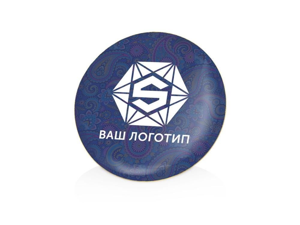 Значок металлический Круг, золотистый
