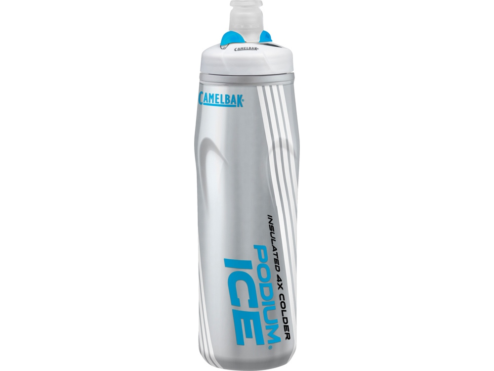 Бутылка CamelBak Podium® Ice ™ 0,62л, серебристый/голубой