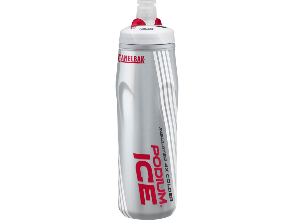 Бутылка CamelBak Podium® Ice ™ 0,62л, серебристый/красный