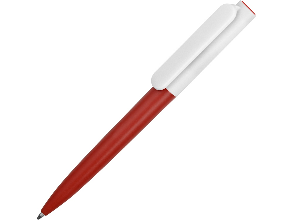 Ручка пластиковая шариковая Umbo BiColor, красный/белый