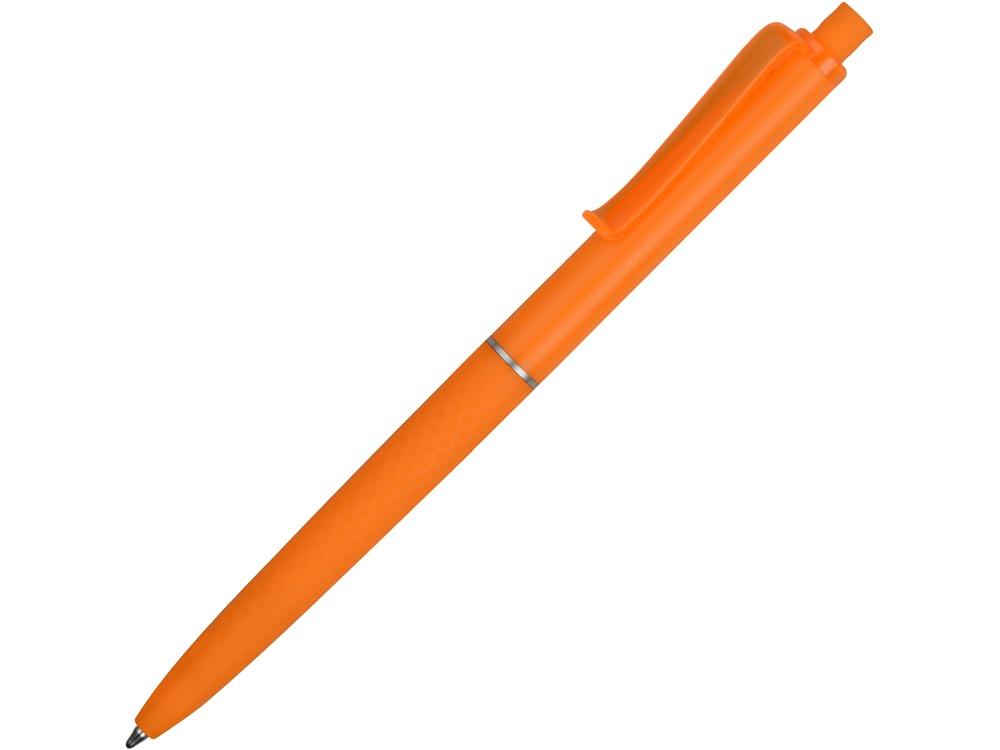 Ручка пластиковая soft-touch шариковая «Plane», оранжевый