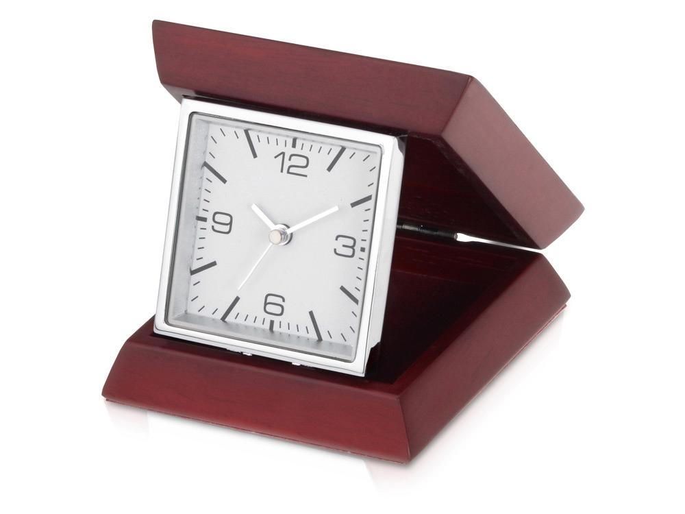 Часы настольные «Либерал», темно-коричневый/серебристый