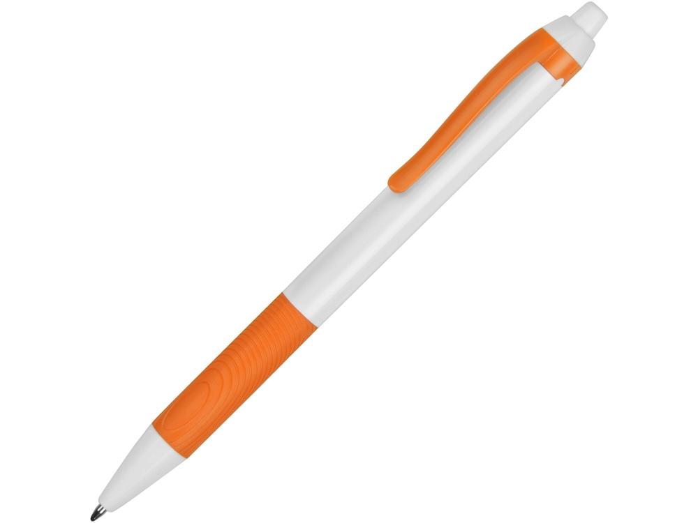 Ручка пластиковая шариковая «Centric», белый/оранжевый