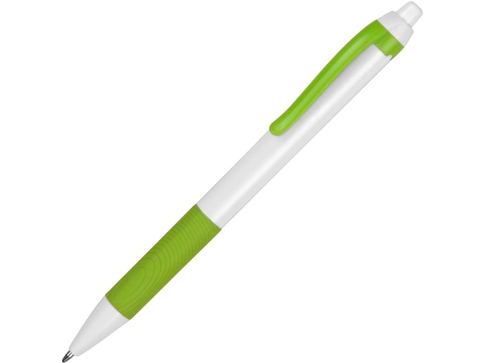 Ручка пластиковая шариковая «Centric», белый/зеленое яблоко