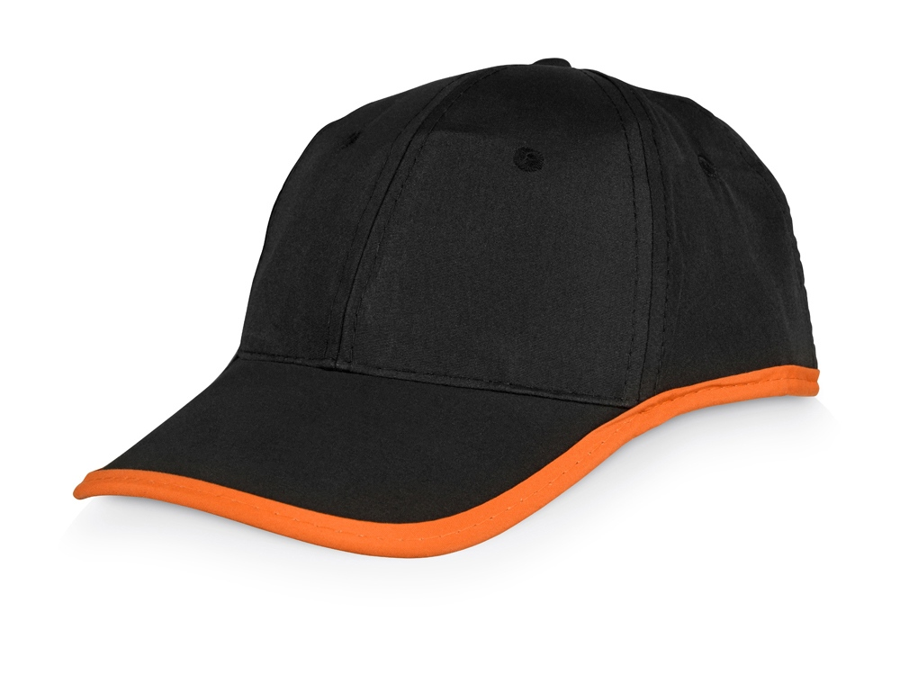 Бейсболка Solo, черный/оранжевый