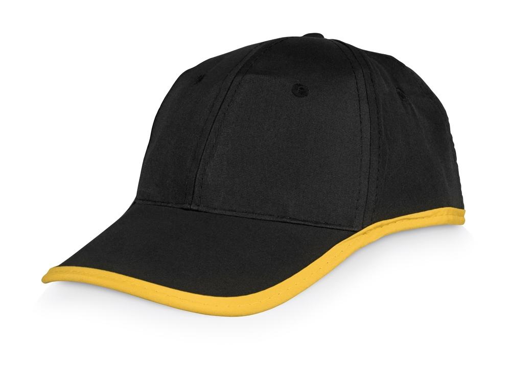 Бейсболка Solo, черный/желтый