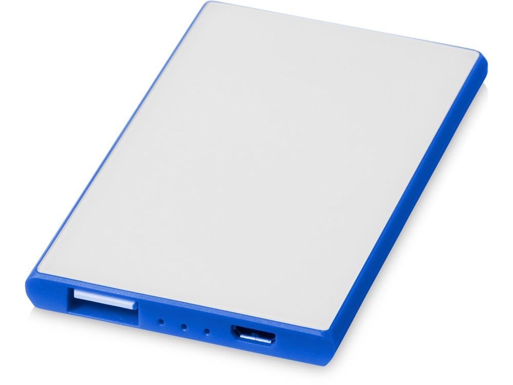 Портативное зарядное устройство Slim Credit Card, ярко-синий