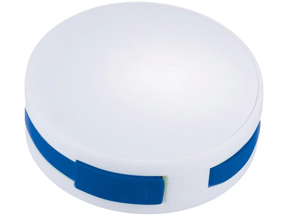 USB Hub Round, на 4 порта, белый/ярко-синий