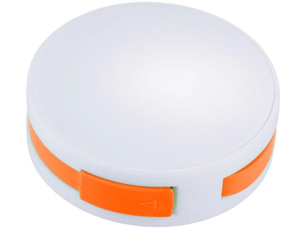 USB Hub Round, на 4 порта, белый/оранжевый