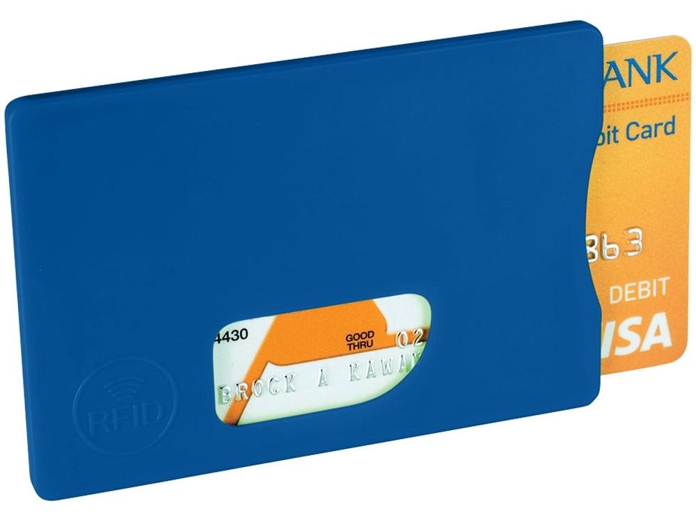 Защитный RFID чехол для кредитных карт, ярко-синий