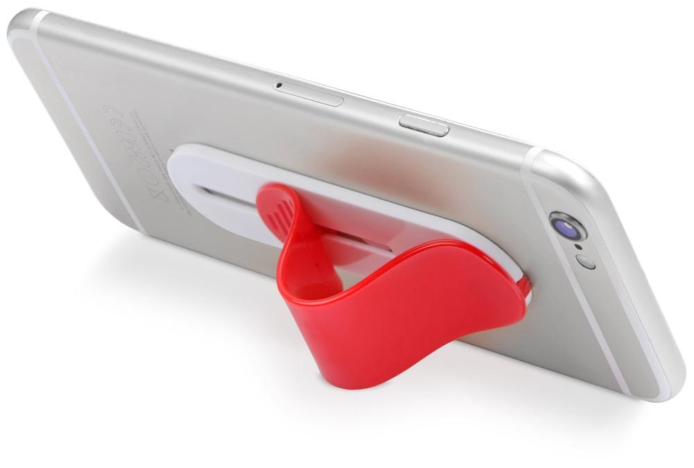 Сжимаемая подставка для смартфона, красный