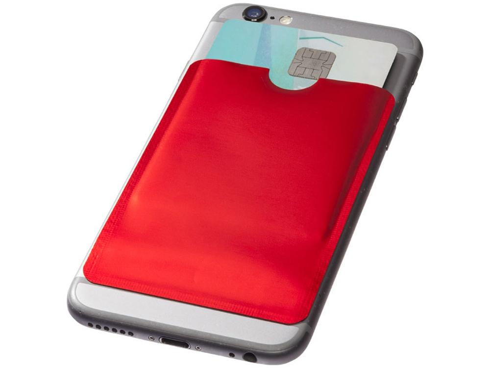 Бумажник для карт с RFID-чипом для смартфона, красный