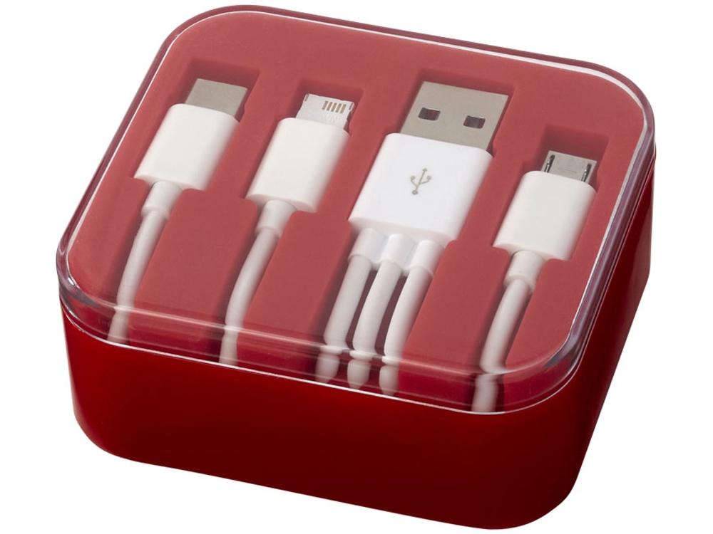 Набор кабелей для зарядки Tril 3 в 1, красный