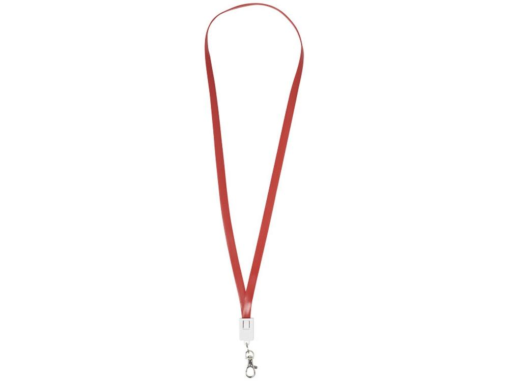 Зарядный кабель-клип 2 в 1, красный