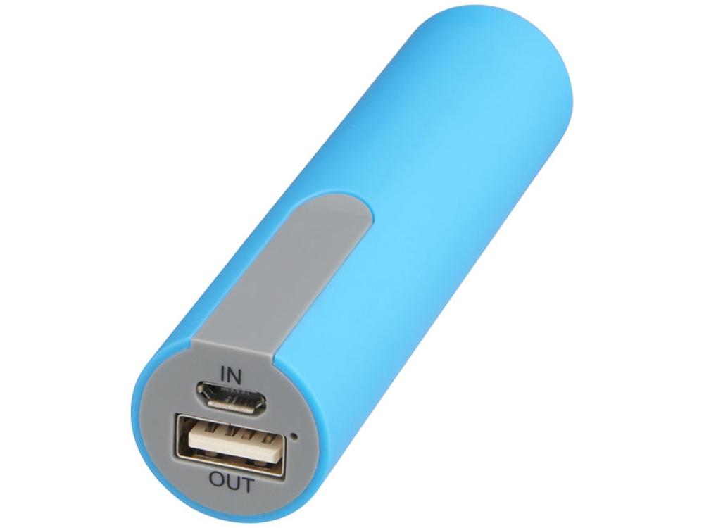 Зарядное устройство с резиновым покрытием 2200 мА/ч, синий
