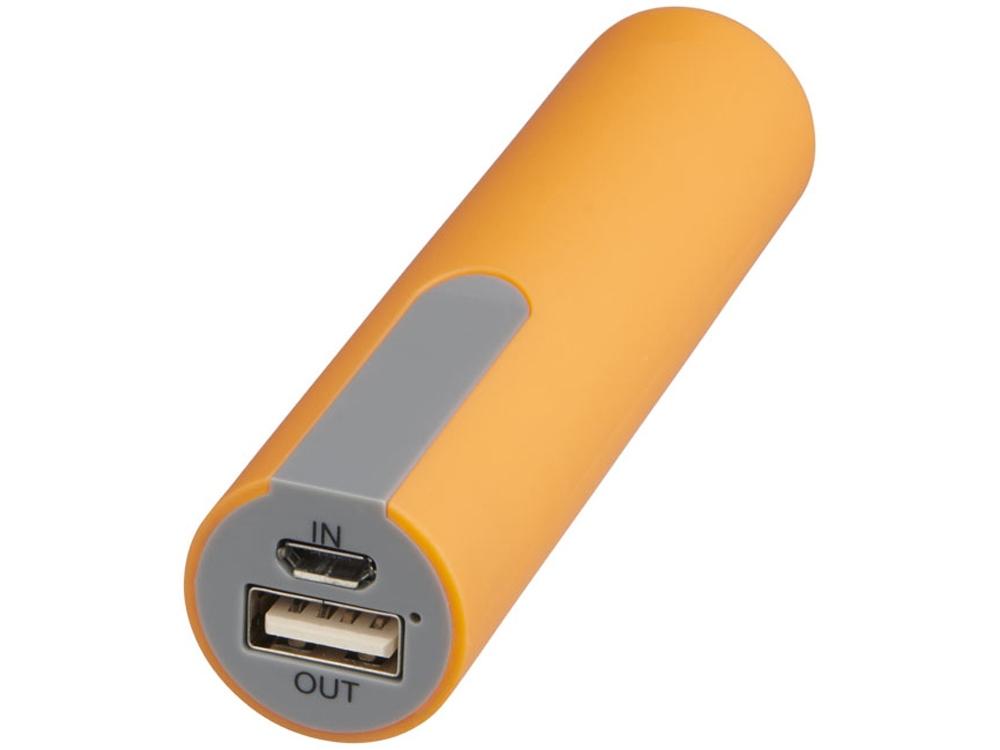 Зарядное устройство с резиновым покрытием 2200 мА/ч, оранжевый