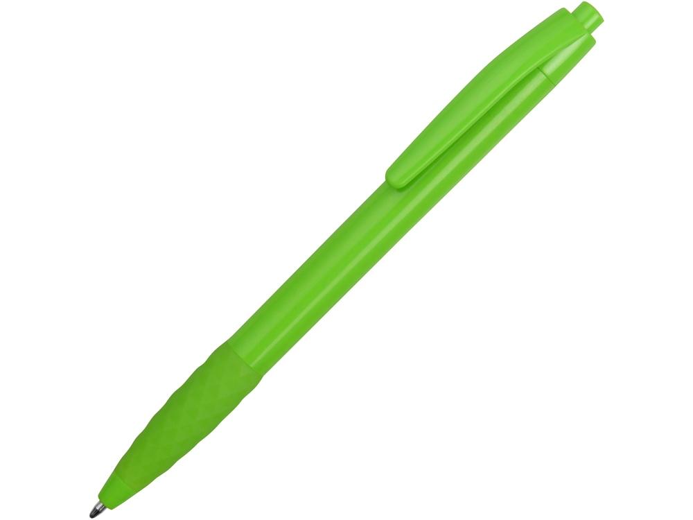 Ручка пластиковая шариковая «Diamond» с грипом, зеленое яблоко
